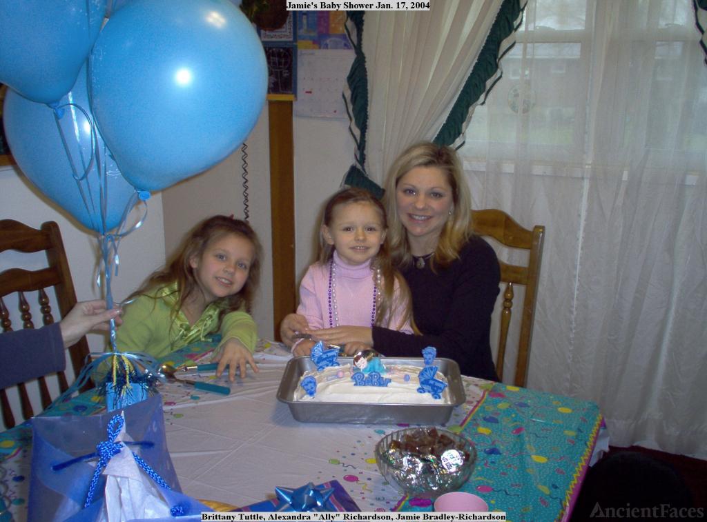 Jamie Richardson's baby shower, 2004