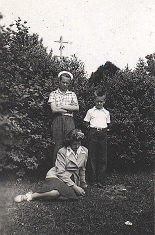 McIntyre boys and Joyce Benning