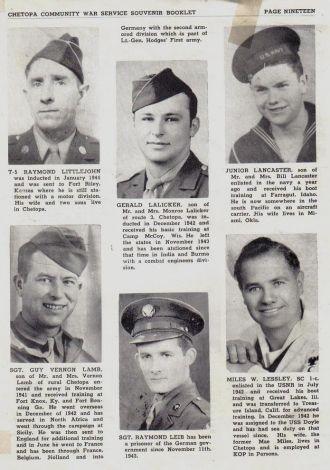 ted stafford's Army Book Kansas - L  surnames