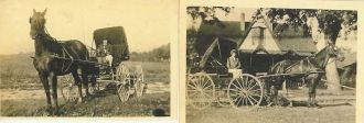 Elsie (Carr) & John I. Tyree In Their Carriage