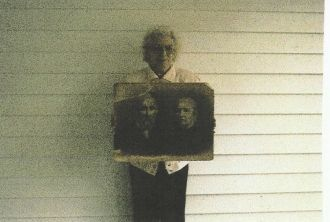 Frances Virginia (Michael) Miller With A Picture of Her Ancestors