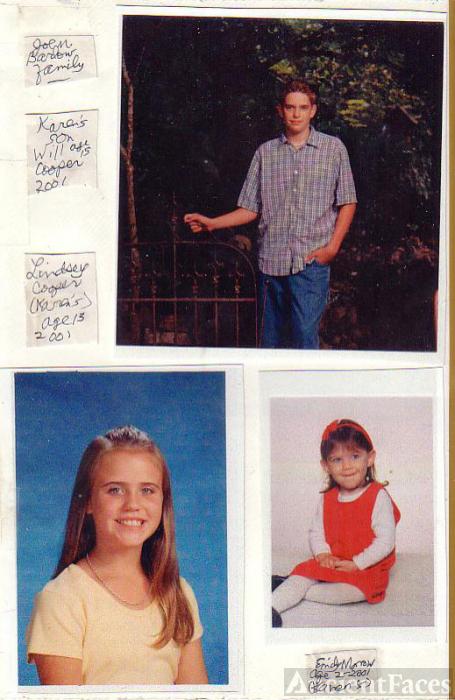 kids of Joe Marvin BARLOW's dau. Karen