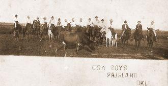 Blair brothers, Oklahoma 1920's