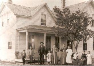 Joseph Vidal Martin & family, Minnesota