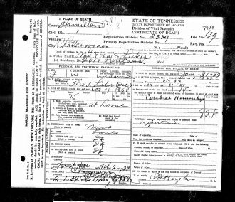 Ellena Love Lieker Death Certificate