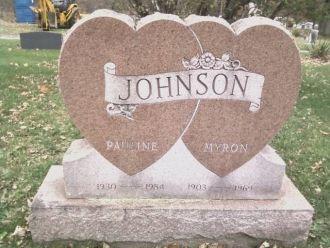 Pauline & Myron Barber Johnson gravesite