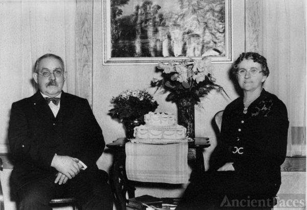 Abram and Bertha Van Kleeck, 50th anniversary