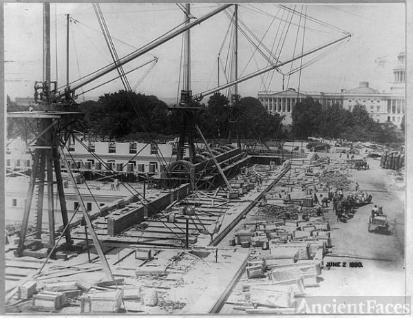 Construction of the Jefferson Building, Library of Congress