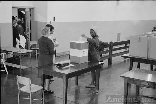 Negro voting in Cardozo High School