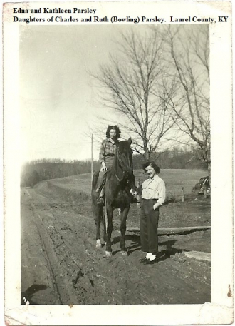 Edna and Kathleen Parsley in Laurel County, Kentucky