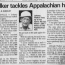 Johnny Walker, Appalachian hike