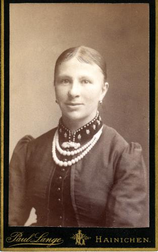 German Woman with Big Beads