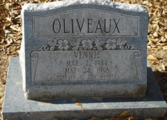 Vennie Oliveaux Gravesite