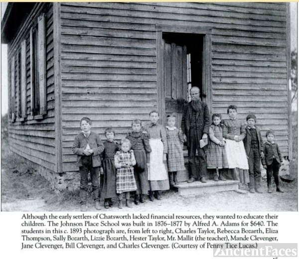Hester as a 6 year old at the Johnson Place School 1893