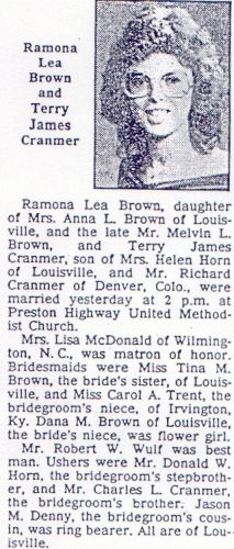 brown and cranmer marriage