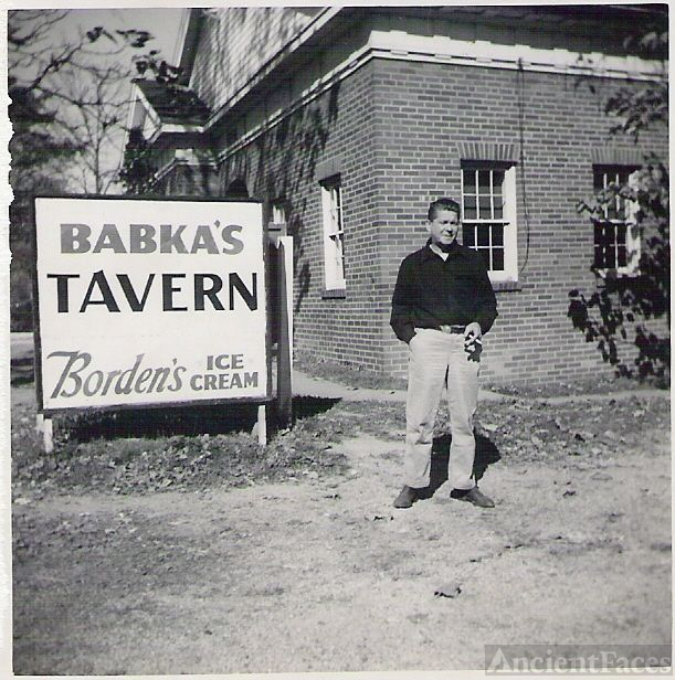 George Babka in front of his Tavern