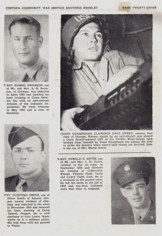 ted stafford's Army Book Kansas S surnames