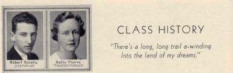 Betty Thorne 1933 Lowell High Valedictorian