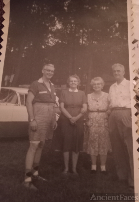 Ferris Earl Thompson. With Iva and Myrtle Thompson. His sister's .