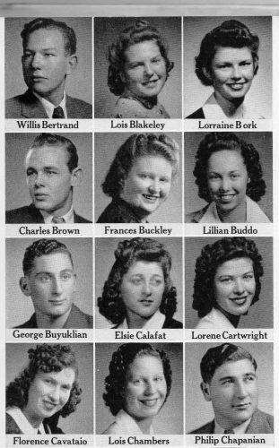 Willie Bertrand, Fresno Graduating Seniors 1942