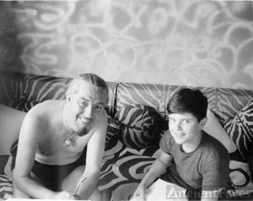 Ivan T. Sanderson and friend