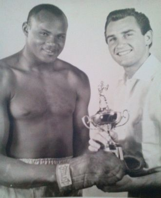 UK boxer Bernard Neil and Robert Miller