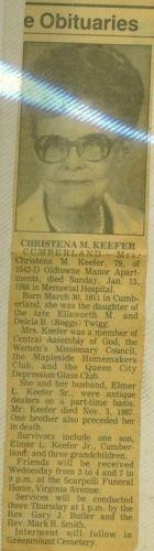 Christena (Twigg) Keefer