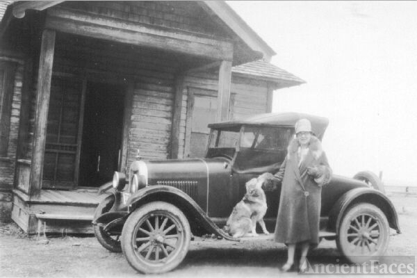 Lettie (Mead) Teed Evans, Montana 1929