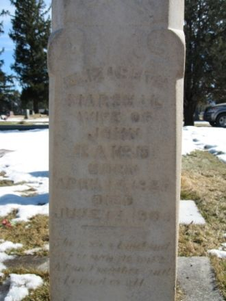 Elizabeth Marshall Baird Headstone