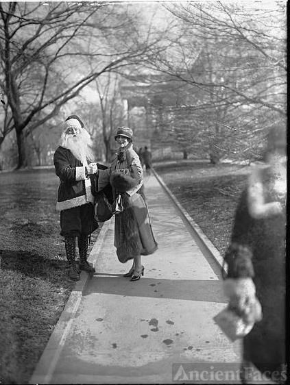 Irene Rich & Santa Claus