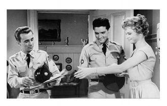 Robert Ivers, Elvis Presley and Juliet Prouse.