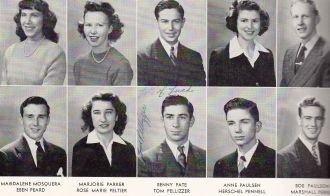 1945 San Mateo High School - Marjorie Parker