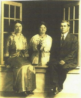 Catherine Carl,  Her Brother Jessie, & His Wife, of Ohio