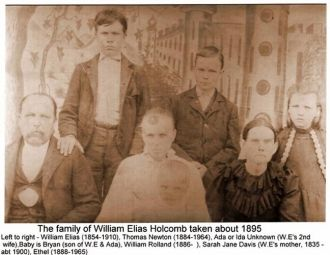 William Elias Holcomb and Family