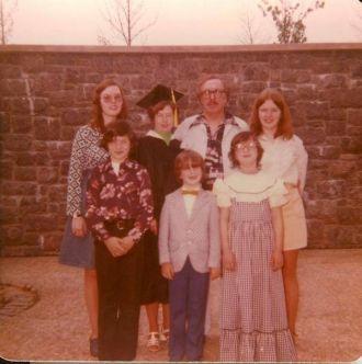 Edison E Wells family graduation