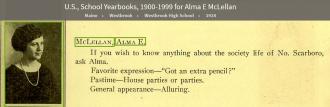 Alma Erskine McLellan-Murphy-Connell --U.S., School Yearbooks, 1900-1999(1924)
