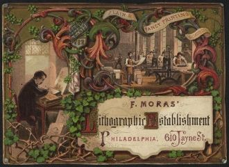 F. Moras' Lithographic Establishment, Philadelphia, 610...