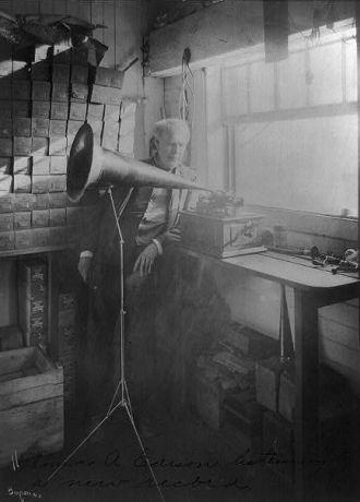 [Thomas Alva Edison, full-length portrait, standing,...