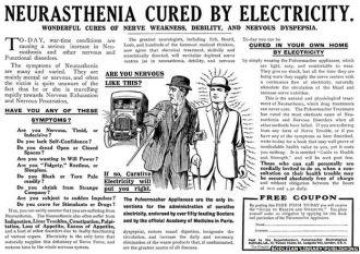 Neurasthenia Cured/Electricity