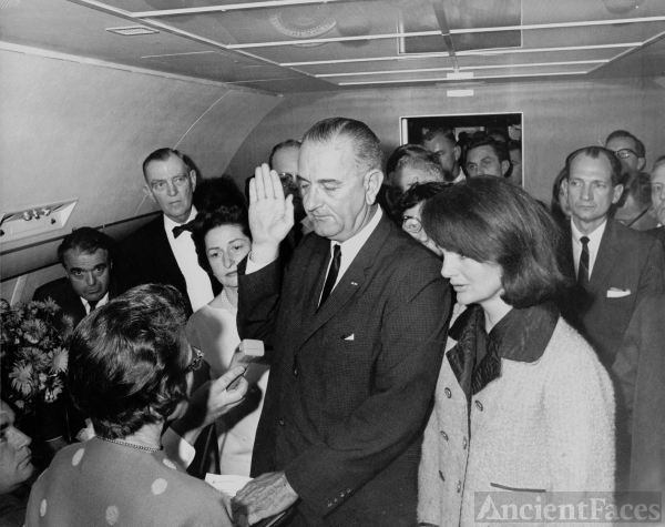 President Johnson and Jackie Kennedy