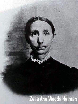 Zelia Ann (Woods) Holman, 1890