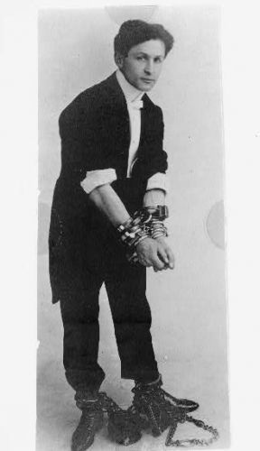 Harry Houdini, full-length portrait