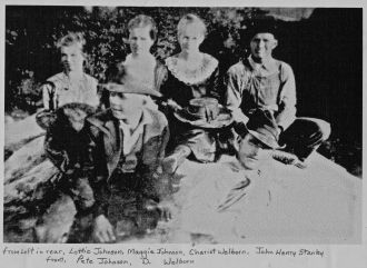 Johnson family and friends