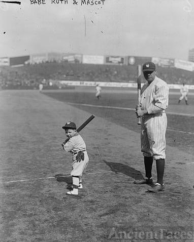 Babe Ruth and mascot