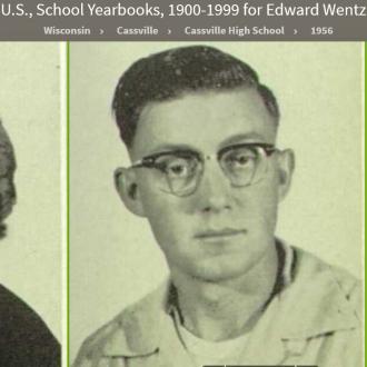 Edward Alan Wentz--U.S., School Yearbooks, 1900-1999(1956)