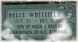 Nelce Lancaster Whitfield Gravesite