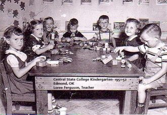 1952 Kindergarten Class, Central State College, Edmond, OK