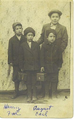 4 sons of Carl & Carolina Wegner
