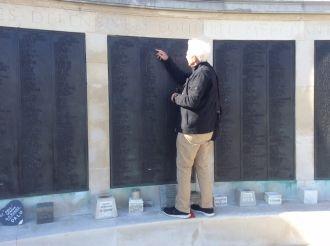 Roger Walter's memorial wall, UK