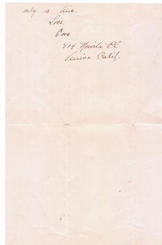 Cora Evans letter, 3